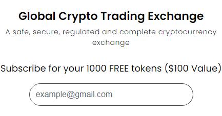 Global Crypto Exchange 1000 GCX Free Crypto Airdrop Bonus
