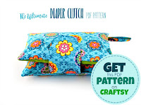sewing pattern with instructions to sew a diaper clutch