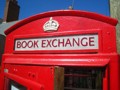 local book exchange in phone box