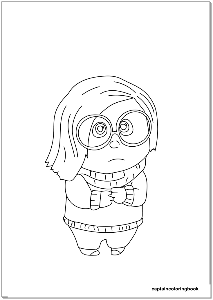 joy inside out coloring page - inside out coloring pages fritz fear bing bong joy