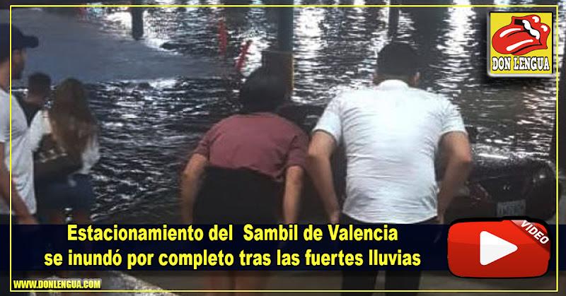 Estacionamiento del Centro Comercial Sambil de Valencia se inundó por completo