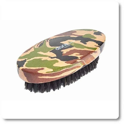 Diane soft boar military brush in camo