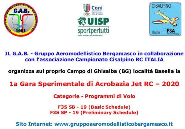 Il Gruppo Aeromodellistico Bergamasco ospita la 1a Gara Sperimentale di Acrobazia Jet RC