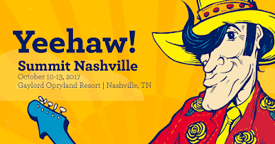 Yeehaw! Picture of Summit cowboy stating details for Summit Nashville from October 10 - 13 at the Gaylord Opryland Resort.