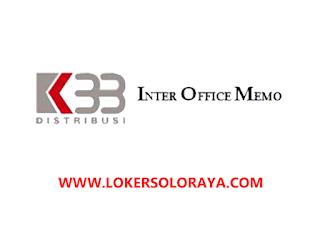 Loker Solo Sales Spv dan Sales TO di PT K33 Distribusi