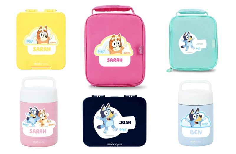 bluey bento products from stuck on you