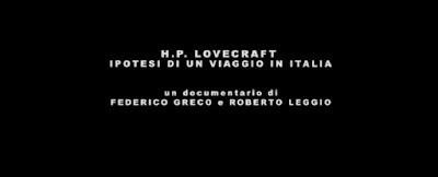 Ipotesi di un viaggio di Lovecraft in Italia