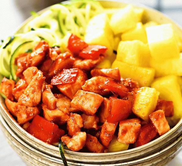 Hawaiian Chicken Meal Prep Bowls #lunch #dinner