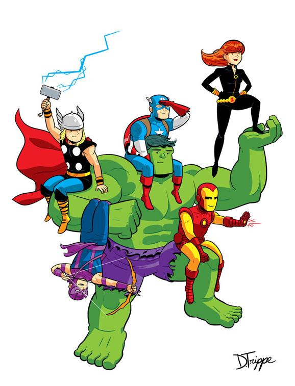 11 The Avengers Illustration Artworks ~ Web Development ...