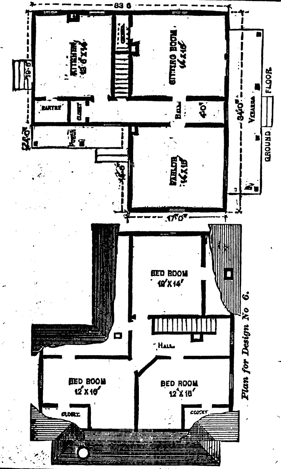 19th Century Historical Tidbits: 1895 Rural House Plans 3