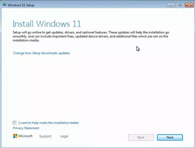 تحديث windows 7 الى windows 11 دون فورمات