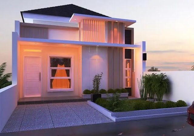 Desain Fasad Rumah Type 36 Dengan 1 Lantai