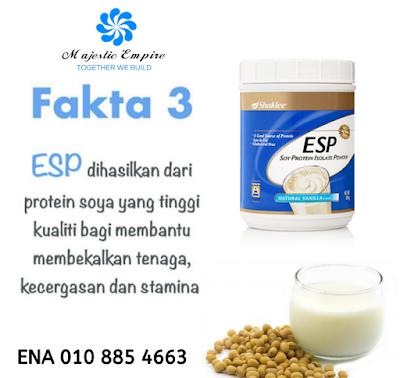 Kelebihan ESP Shaklee berbanding minuman protein lain di pasaran