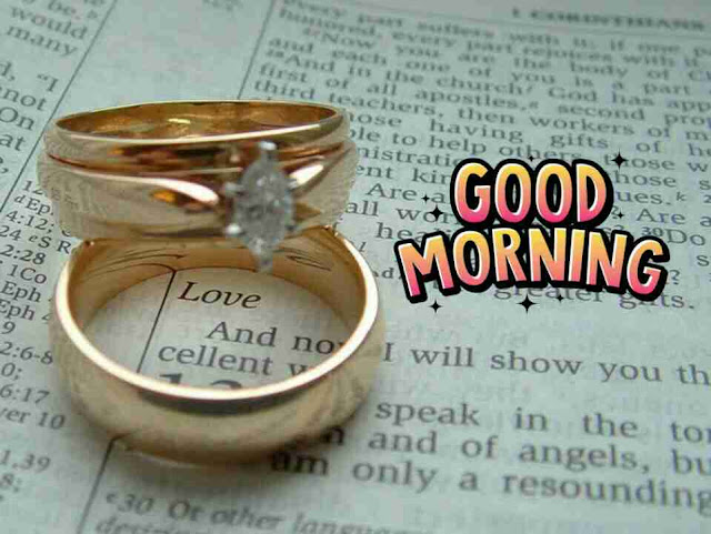 Beautiful good morning pictures with love rings