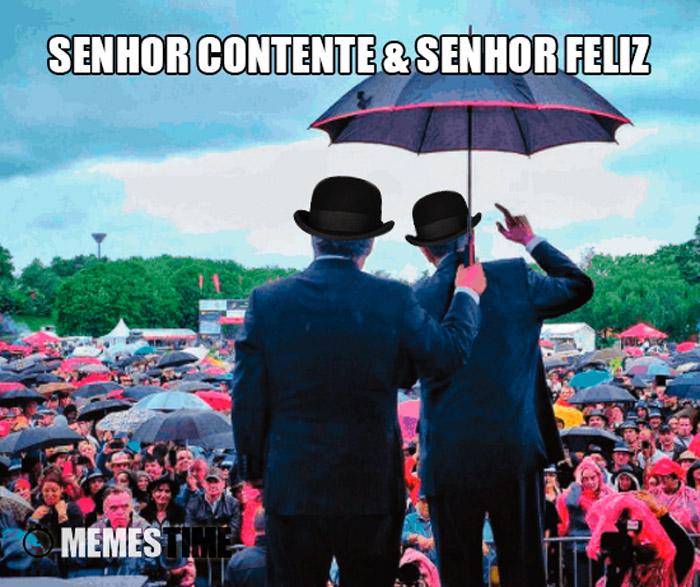 Meme António Costa e marcelo Rebelo de Sousa – Senhor Contente & Senhor Feliz.