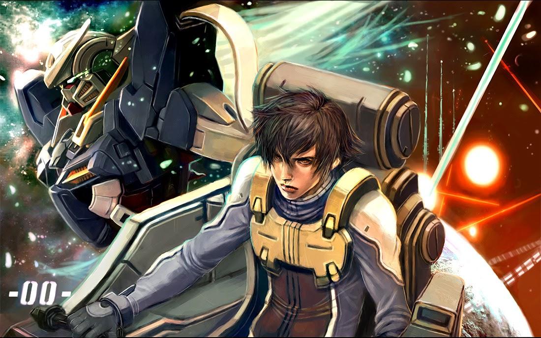 Setsuna F Seiei And Gundam Exia Digital Painting Fanmade Wallpaper Gundam Kits Collection News And Reviews