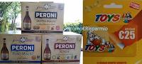 Logo In consegna Birra Peroni e vinci anche tu le gift Toys