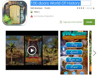 Soluzioni 100 doors World Of History di tutti i livelli Walkthrough guide