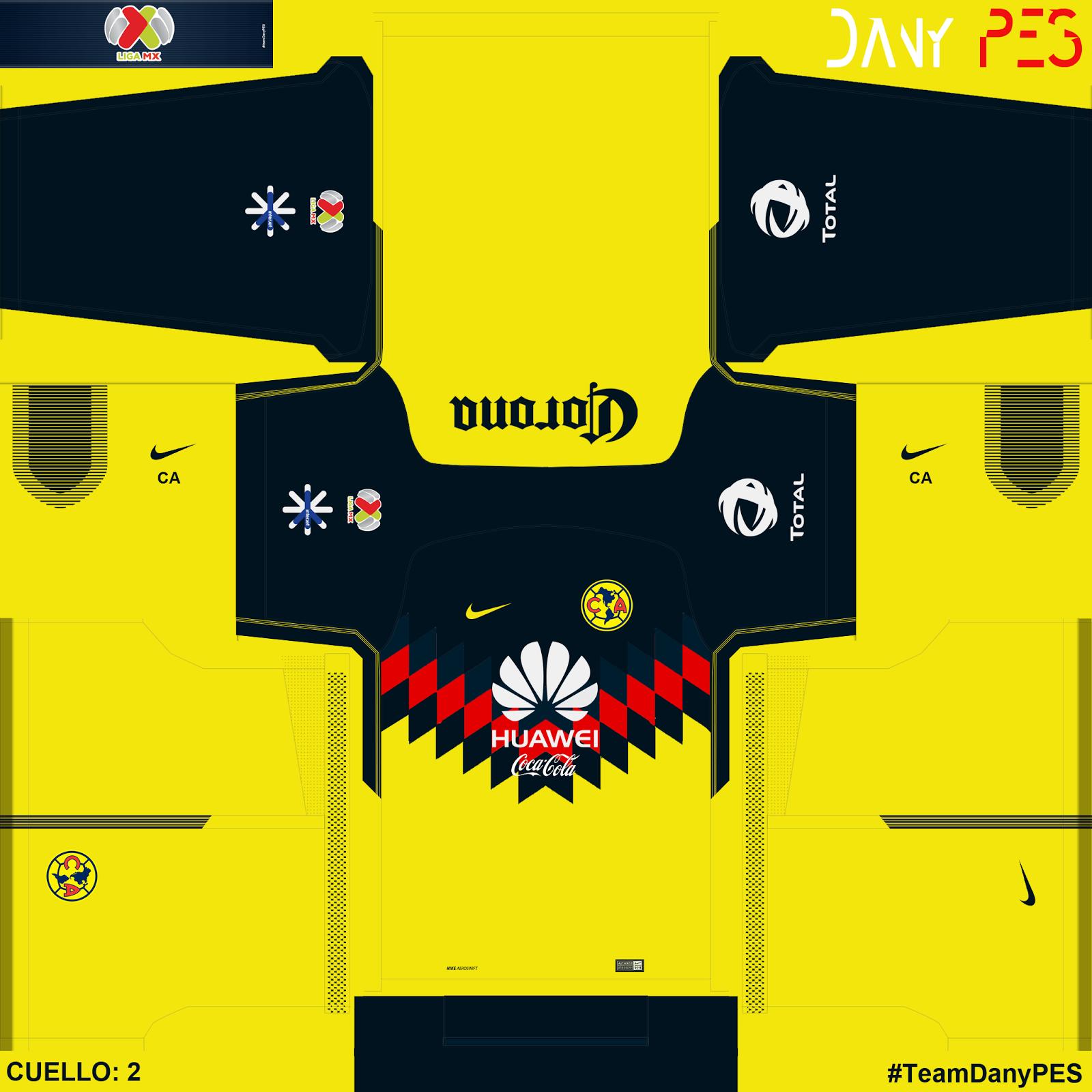 Kits liga mx 17 18 for Cuarto kit del america