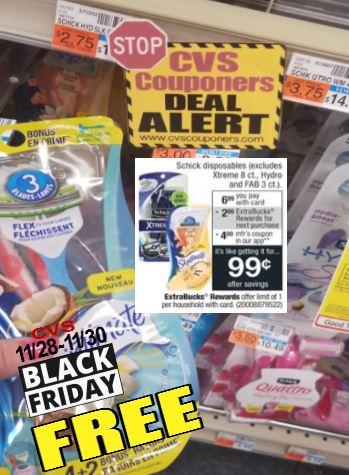 free razors cvs couponers black friday