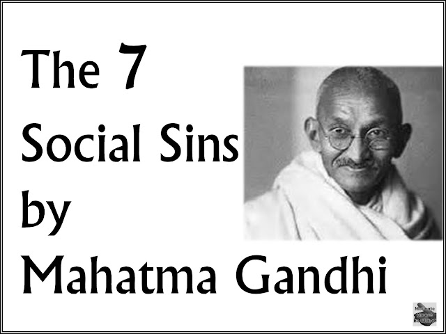 Gandhi, Sins, Social, Seven, Blunders, Motivation, Inspirational