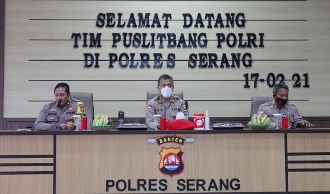 Tim Puslitbang Mabes Polri Kunjungi Polres Serang