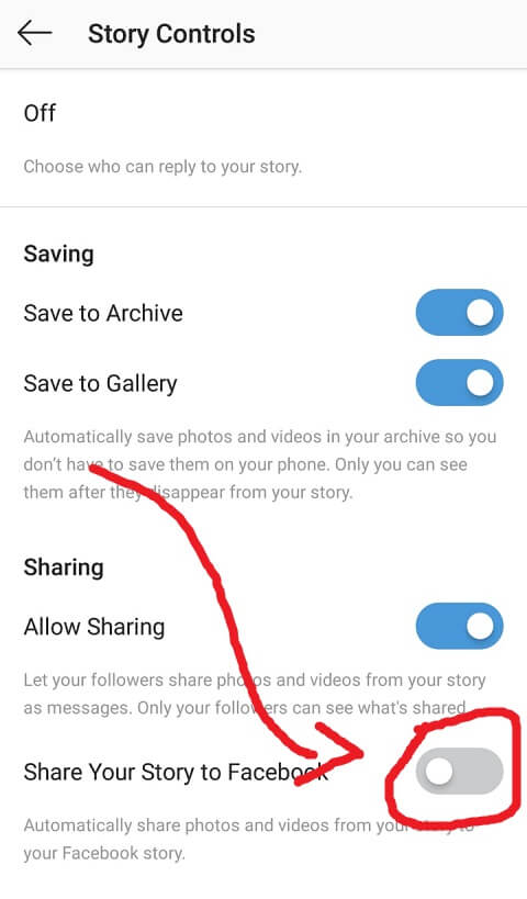 Aktifkan Share Your Story to Facebook