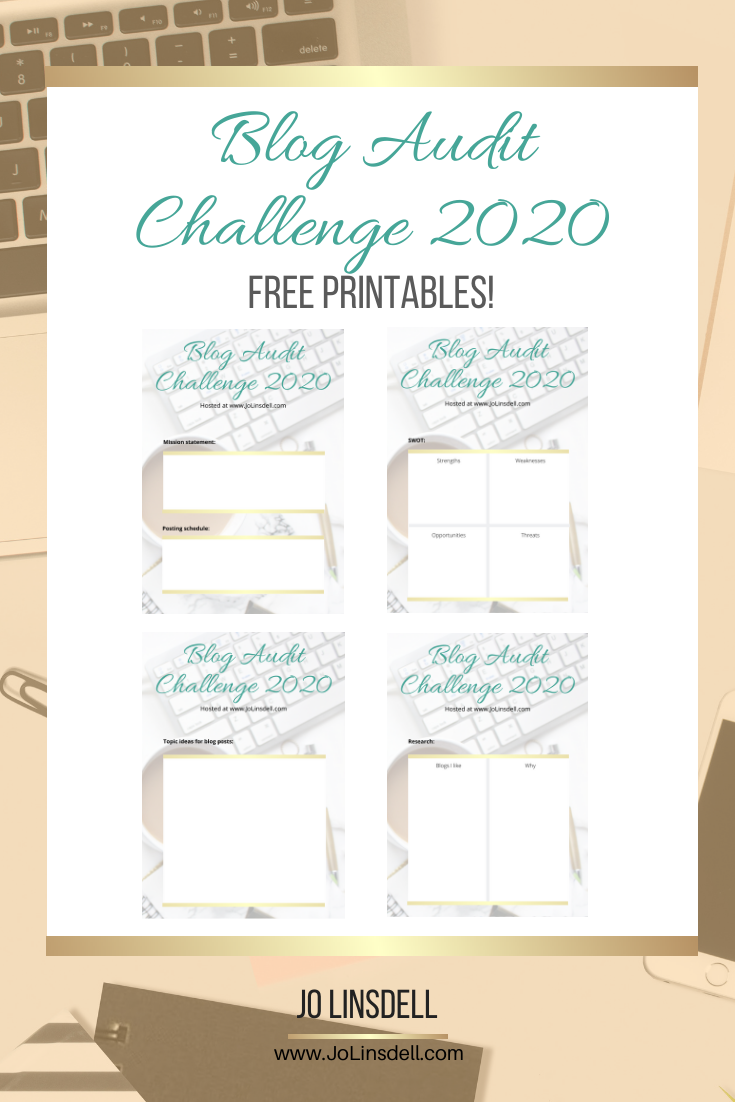 You can grab copies of all the extra materials for the Blog Audit Challenge 2020 for free! #BlogAuditChallenge2020