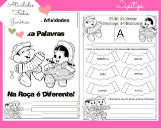 Atividades FESTAS juninas para alfabetização