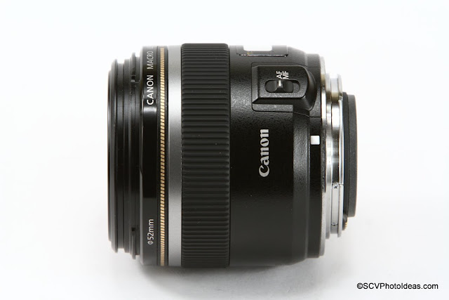 Canon EF-S 60 mm f/2.8 Macro USM side view