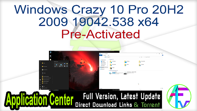 Windows Crazy 10 Pro 20H2 2009 19042.538 x64 Pre-Activated