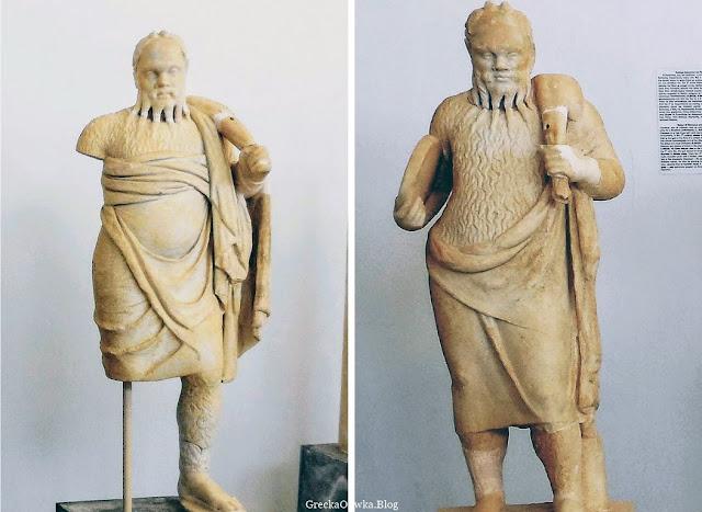 Posąg boga Dionyzosa Delos Mykonos Grecja.
