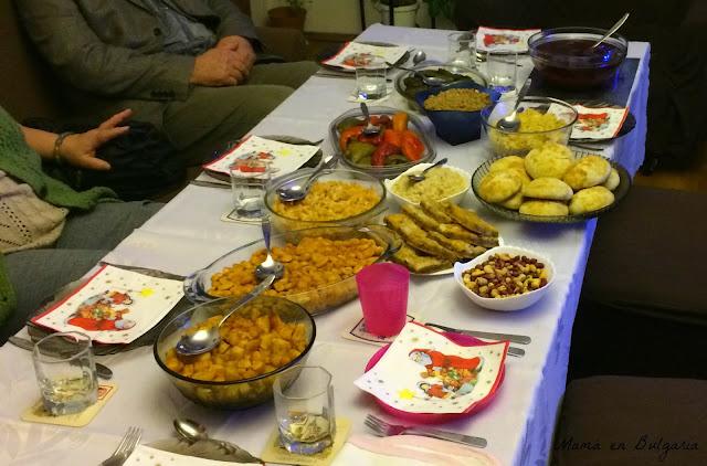 Cena de Nochebuena en Bulgaria  Budni Vecher