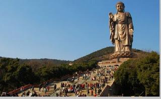 Spring Temple Buddha, tinggi patung 128 meter, Tiongkok - pustakapengetahuan.com