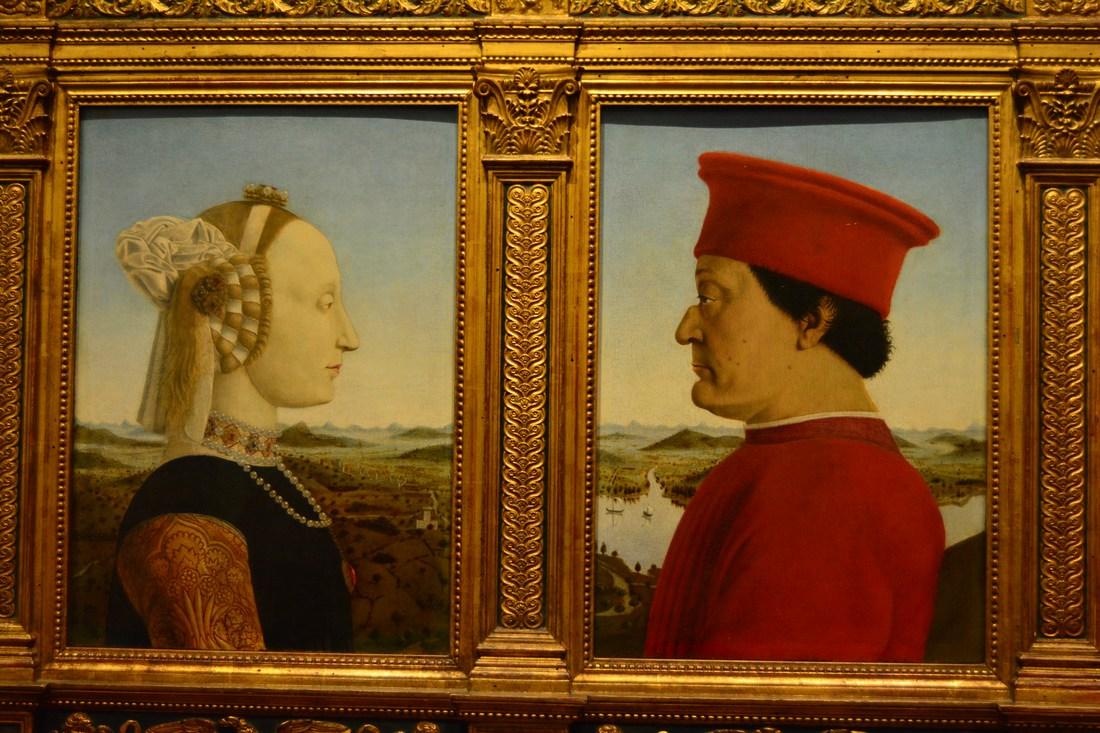 Piero della Francesca - Double portrait des ducs d'Urbino