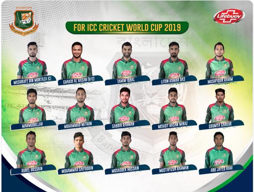 World Cup 2019 BANGLADESH CRICKET TEAM 2019
