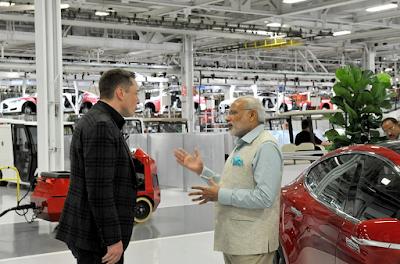 tesla mendirikan pabrik di india