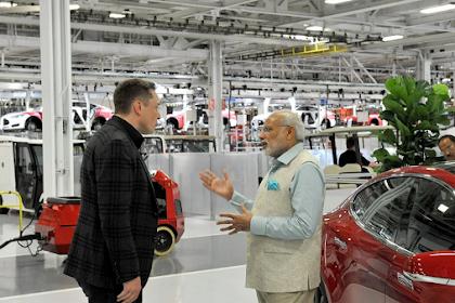 India Menawarkan Keuntungan Besar  Kepada Tesla  Untuk Mendirikan Pabrik Mobil Listrik Di Negaranya