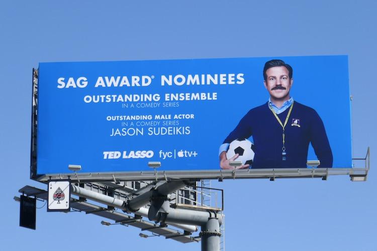 Ted Lasso SAG Awards nominees billboard