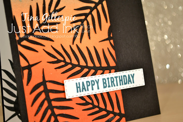 scissorspapercard, Stampin' Up!, Just Add Ink, Tropical Chic, Itty Bitty Birthdays, Tropical Thinlits, Sponge Brayer