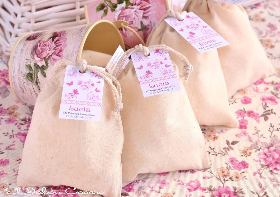 detalles personalizados para comuniones bolsitas perfumadas