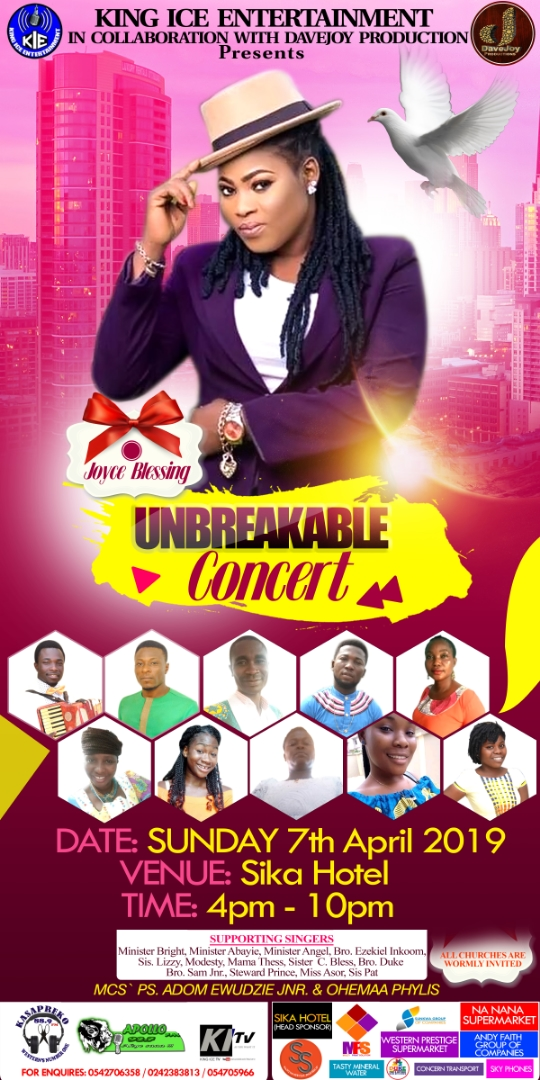 UNBREAKABLE CONCERT WITH JOYCE BLESSING - KING ICE