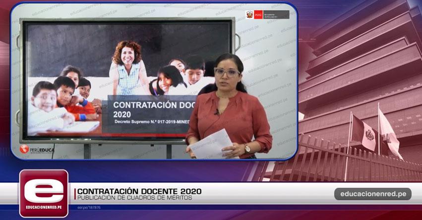 VIDEO MINEDU: Recomendaciones sobre la Publicación de Plazas Vacantes para Contrato Docente 2020