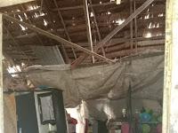 Rumah Pasutri Diterjang Angin Puting Beliung Nyaris Roboh di Sergai