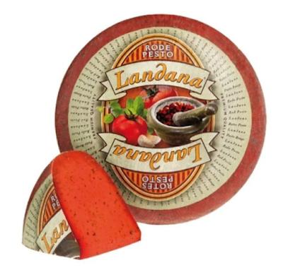 Landana Gouda Fesleğenli Kırmızı Hollanda Peyniri Tadımı ve İncelemesi- Landana Rotes Pesto