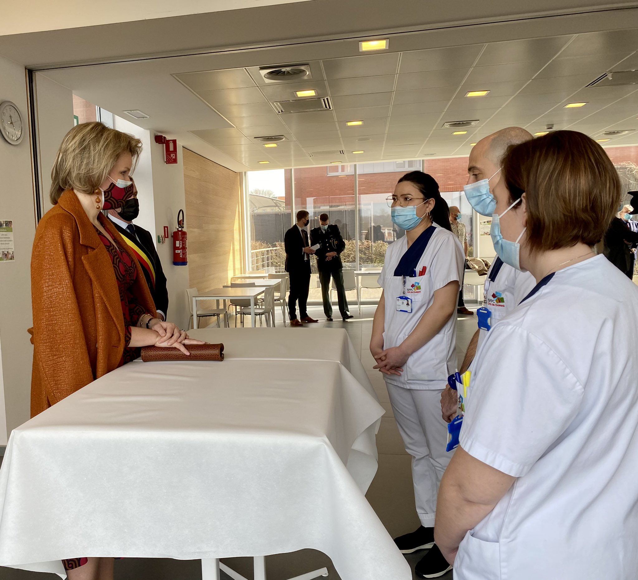 King Philippe and Queen Mathilde of Belgian visited the Marie Curie Hospital