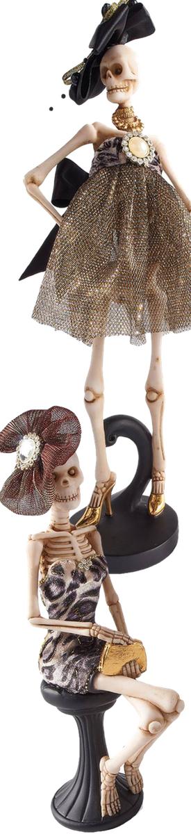 Grandin Road Fashionista Skeletons (set of 2)