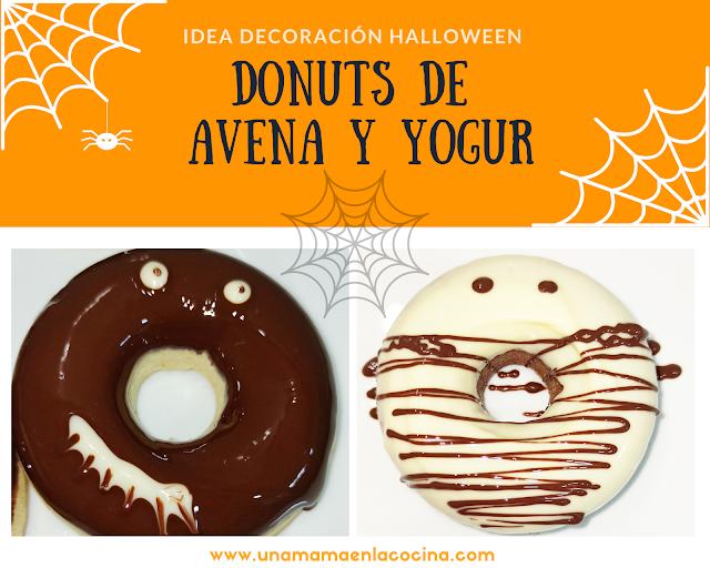Donuts avena y yogur receta Una mamá en la cocina Halloween