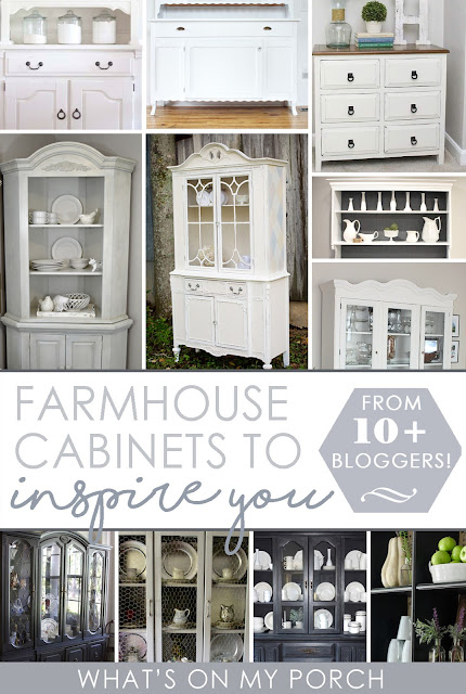 Farmhouse Cabinets to Inspire You from 10+ Bloggers!