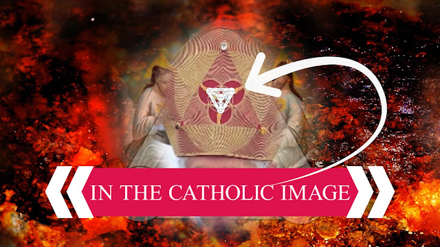 In the Catholic image displaying the TRINITY faith,